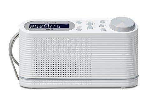 Roberts Radio Play10WE Tragbares-Radio (DAB+/DAB/FM Tuner) weiß (Radio Station 10)