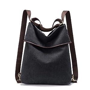 LOVEVOOK Canvas Tasche Rucksack Damen Handtasche Damen Herren Schultertasche Groß Umhängetasche Damen Anti Diebstahl Daypack für Alltag Büro Schule Ausflug Einkauf