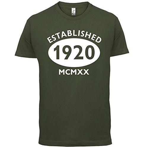 Gegründet 1920 Römische Ziffern - 97 Geburtstag - Herren T-Shirt - 13 Farben Olivgrün