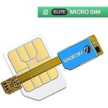 Magic-Sim Elite–Adaptador de tarjeta Micro SIM Dual sim