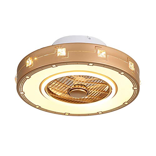 Deckenventilator mit Licht und Fernbedienung Ventilator Lampe Deckenleuchte LED Dimmbar Tricolor 36W für Innen Schlafzimmer Arbeitszimmer Wohnzimmer Esszimmer Kinderzimmer Lampen Φ50*23cm -
