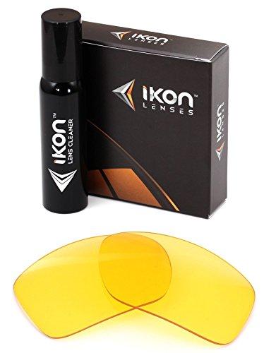 Polarisierte Ikon Iridium Ersatzgläser für Drydock Sonnenbrillen von Von Zipper, Herren, HD Yellow, Einheitsgröße
