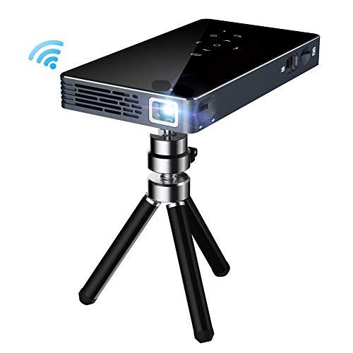 YL-light Beamer Projektor 1080p-Videoprojektor mit Dualband-Wi-Fi/Bluetooth-Unterstützung für Heimkino-HDMI/USB/TF-Karte/Wireless-Display/Keystone-Korrektur Tragbarer DLP-Miniprojektor