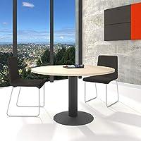 WeberBÜRO Optima runder Besprechungstisch Esstisch Küchentisch Tisch Ahorn Rund Ø 120 cm