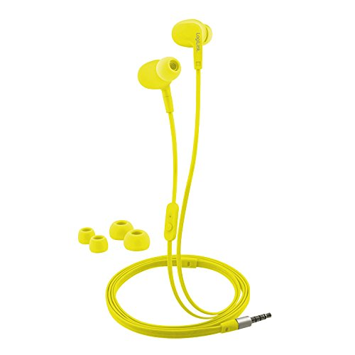 LogiLink In-Ear Stereo Headset 3,5mm mit (2er Pack) Ear Bud, Waterproof neon gelb