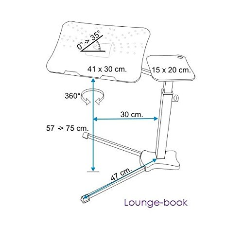 Affordable Lounge-Book Crystal White – laptop desk on Amazon