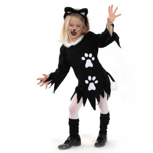 Fasching Karneval Kinder- Kostüm Kleid Kätzchen, Katze, Halloween: Größe: 164