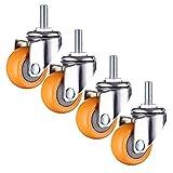 GaoLP Ruote per mobili M6 / M10 - Ruote piroettanti silenziosi, Ruote di Ricambio per presepe/carrelli, φ25 / 50mm (1 / 2in) portante 100KG