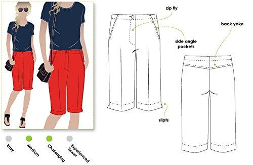 Style Arc-Cartamodello per Jennifer City Short, Sizes 04-16