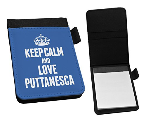 Duke Gifts BLUE Keep Calm and Love Puttanesca Small Notepad 1431