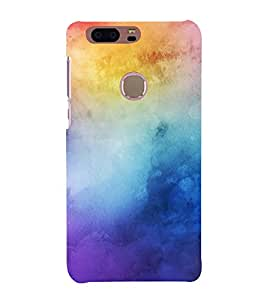 FUSON Colorful Background With Pastel 3D Hard Polycarbonate Designer Back Case Cover for Huawei Honor 8