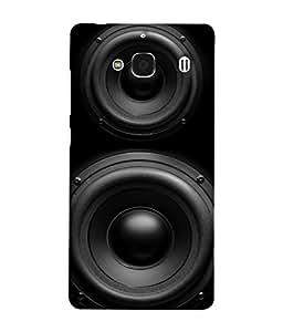 PrintVisa Designer Back Case Cover for Xiaomi Redmi 2 :: Xiaomi Redmi 2S :: Xiaomi Redmi 2 Prime (Original Image of Black Music Speakers Box)