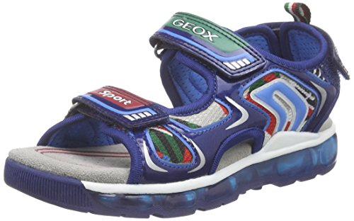 Geox J Sandal Android Boy Sandali a punta aperta, Bambini e ragazzi, Multicolore (C4243), 31