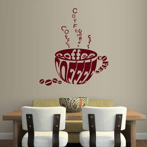 Kaffee Wandtattoo Tasse Caf¨¦ Wandaufkleber K¨¹che Wanddekoration Bar Restaurant Dekorationen Vinyl Aufkleber Decal Curly Cup Hot rvz817 Caf ? Cup