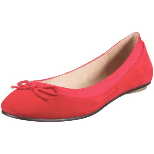 Buffalo London 207-3562 KID SUEDE RED154 116607, Ballerine donna, Rosso, 42
