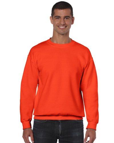 Gildan Herren Sweatshirt, Orange, S