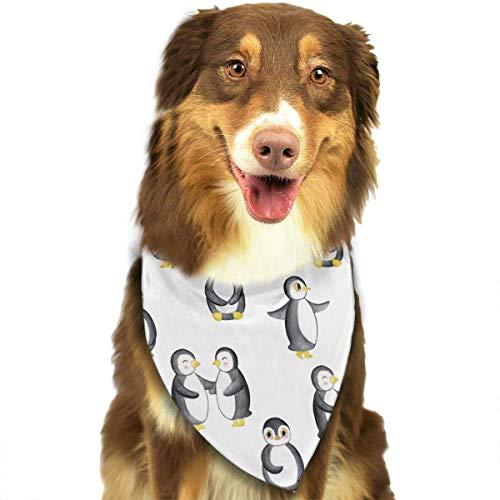 (Hipiyoled Wort-Pinguin-Tagesmuster-stilvolle Hundebandanas Lätzchen Schals Haustier-Schals Katzen-Hundeschal)