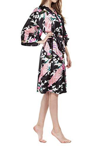 Vestido Kimono Pijama Seda Novia Kimono Seda Bata