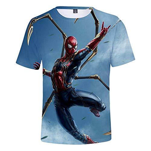 Expedition S/s Shirt (WQWQ Kinder Casual Herren T-Shirt Shirt Spider-Man Heroes Expedition Kurzarm Rundhals Digitaldruck Fitness Schnelltrocknend Sweat Gifts,B,S)