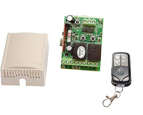automatisch gesteuerts 2-flügeliges Tor mit 2 Kanal Steuerung inkl. Halterungen
