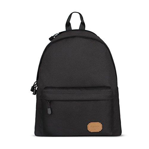 Ryaco [ 20L ] R921 Rucksack, Daypack, Freizeitrucksäcke, Buchbags, College-Tasche,Schultasche mit gepolsterten Tasche für Laptop - zum Reisen, Wandern, Klettern, Jagd, Camping (Canvas Coffee Dark)