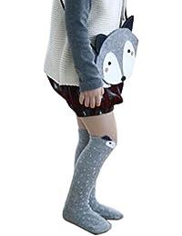 Koly® Niños Fox Calcetines de Rodilla del patrón; Niños calcetines altos pare años (1, Gris)