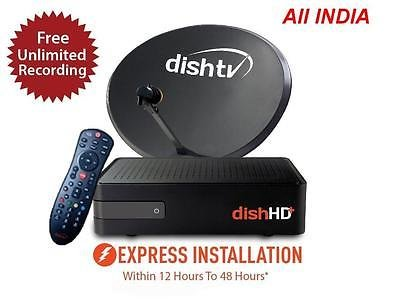 Dish TV TruHD+ Connection With One Month Free Subscription + Unlimited Recording