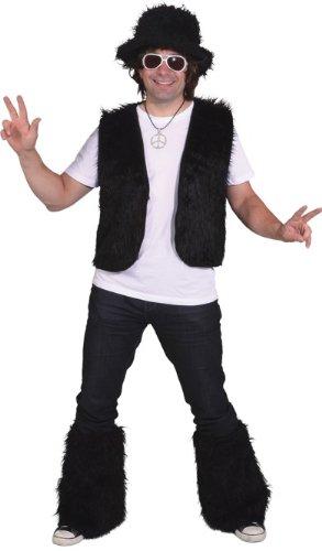 Orlob Fell Weste in schwarz zum Damen Kostüm an Karneval Fasching Gr.S/M (Fell Weste Kostüm)