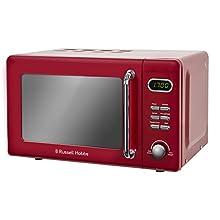 Russell Hobbs RHRETMD706R 17L Retro Digital 700w Solo Microwave Red