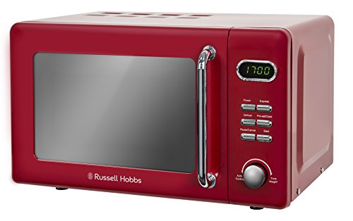 Russell Hobbs RHRETMD706R RETRO rouge Compact numérique à micro-ondes (Rouge)