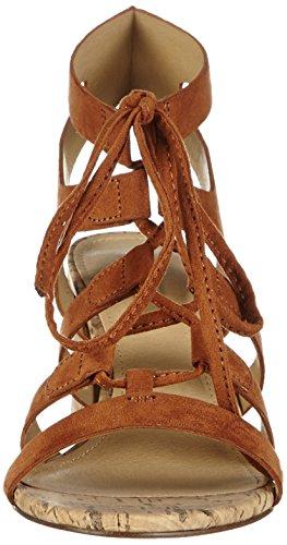 ESPRIT - Redy Sandal, Scarpe col tacco con cinturino a T Donna Marrone (Braun (220 rust brown))