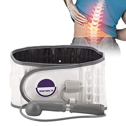 Elektrische Massagegürtel, Taillenstützgürtel Zurück Spinal Air Traction Protector Aufblasbare Gürtel Physiologie Dekompression Lendenwirbelsäule Taille Unterstützung Brace Schmerzlindern(Beige)