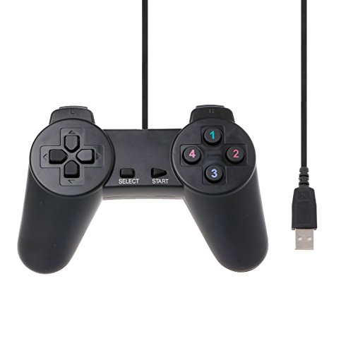FR-POPPYZ USB 2.0 Gamepad Gaming Joystick Wired Game Controller für Laptop-Computer PC