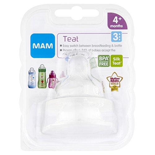 MAM Fast Flow Bottle teats Teats for use with MAM Bottles (2-pack)