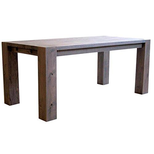 Esstisch Esszimmertisch Küchentisch Braxton, 200x100 cm, Massivholz Holz Eiche massiv verwittert antik