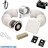 Best Bathroom Fan Lights - Bathroom Fan Timer Model Shower Light Kit 100mm Review