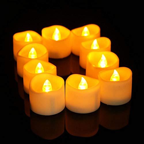 ttt Elektronisches Kerzenlicht führte Teelichtkerze 12 PCS