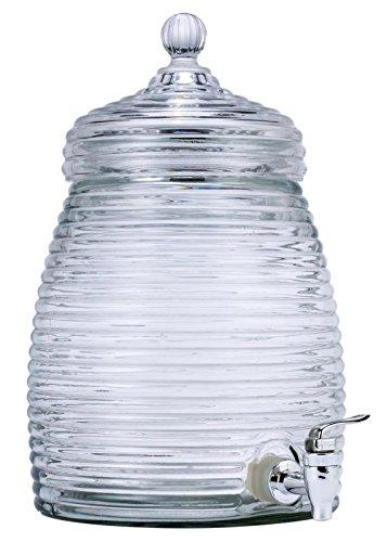Elegantes Mini Beehive Glas Getränke Spender mit Glas Deckel und Spigot-Halt 1,3Liter Ihr Lieblingsgetränk-Für Essen im Freien, Partys, Veranstaltungen Im Freien, geschlossen, oder