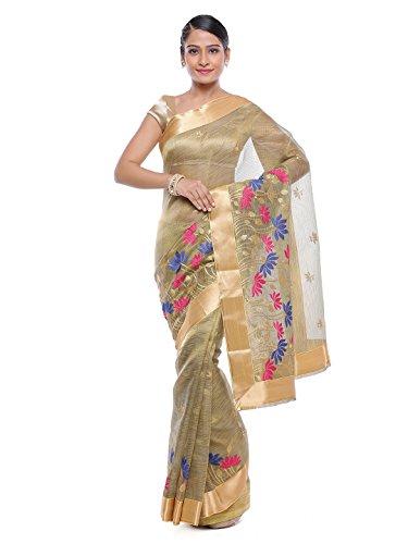 Style-In-Banaras Women's Tissue Saree (Grey)