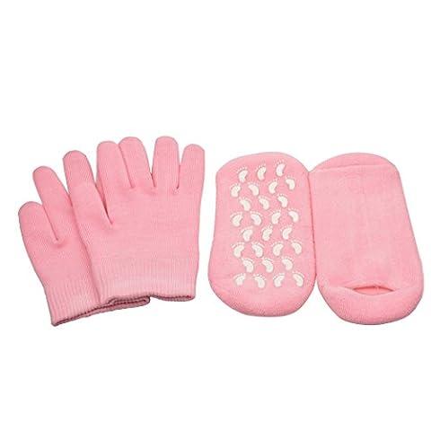 inkint Hand & Feet Moisturizing Gel Gloves + Socks Kit Pedicure Manicure Whitening SPA Treatment Tools Accessories Moisturizer Rejuvenation Gloves Socks Set for