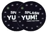 SplashYum! Digitales Aquarium Thermometer rund selbstklebend direkt auf Glasscheibe mit präziser Temperaturanzeige (Doppelpack)