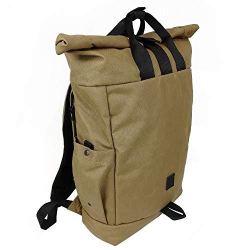 Daypack Rucksack aus Cordura - rolltop Backpack - Tagesrucksack für Damen und Herren - Hochwertiger Daypack - Wasserabweisend & flexibel - Rucksack roll top Herren - Rucksack roll (Koyot)