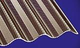 Acryl Wellplatten Profilplatten Sinus 76/18 wabe Struktur bronce 3000 x 1045 x 3,0 mm