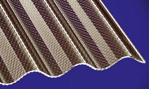 Acryl Wellplatten Profilplatten Sinus 76/18 wabe Struktur bronce 3500 x 1045 x 3,0 mm