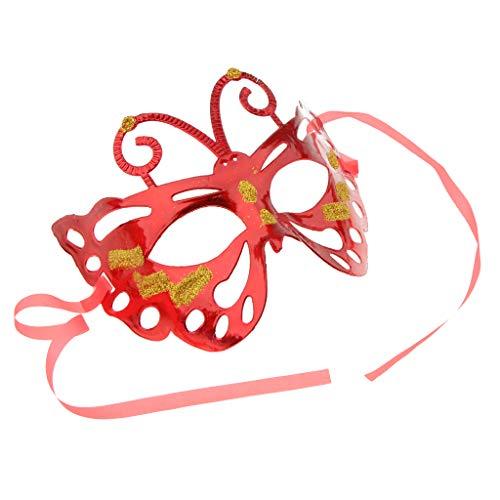 SunniMix Elegante Schmetterlings Augenmaske Halbe Gesichtsmaske Farben - ()