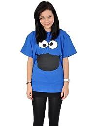 Barrio Sésamo - Camiseta Monstruo de las Galletas - Cookie Monster - Azul - M