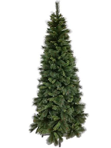 Il brico albero di natale slim lapponia cm.210 albero natalizio folto salvaspazio