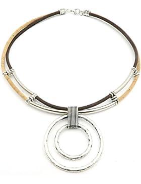 Portugal Naturkork Material handgemachten Schmuck Der ursprüngliche Kork Frau Halskette Kreisförmige Halskette...