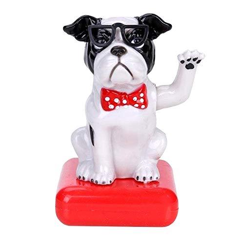 YUSHHO56T Lucky Dog Auto-Dekoration für den Innenbereich, Kunststoff, Solarbetrieb, Glücksbringer, Autodekoration, Klappklappe, Topf Schaukelspielzeug