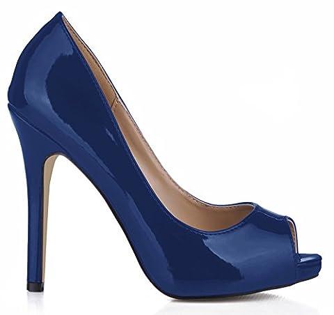 Single Frauen fallen Sinn der Reformator Nachtclubs Geschmack Fisch tipp Frauen Schuhe große Wein rot Fein high-heel Schuhe, Dark Blue (Dark Pink Suede Schuhe)